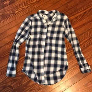 Blue and white vans flannel